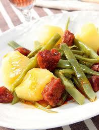 Receta de jud as verdes con chorizo lo mejor de galicia - Judias con chorizo y patatas ...